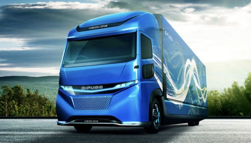 Daimler показал электрогрузовик E-FUSO Vision ONE с запасом хода 350 км