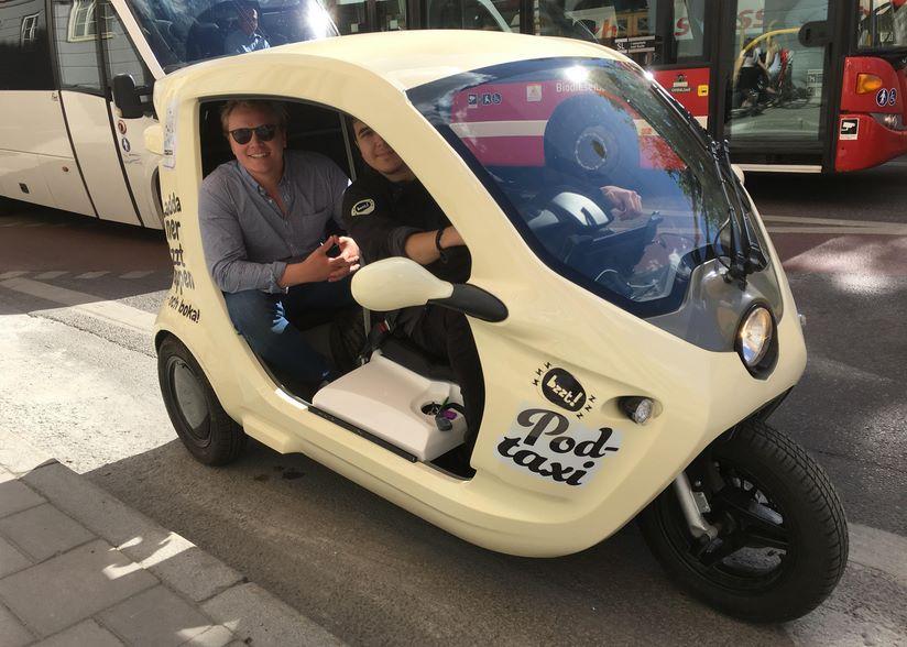 Электромомеды такси тук-тук в Стокгольме