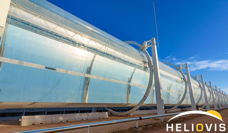 Надувной параболический солнечных концентратор из пленки