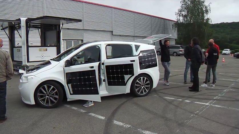 Электромобиль на солнечных батареях Sion