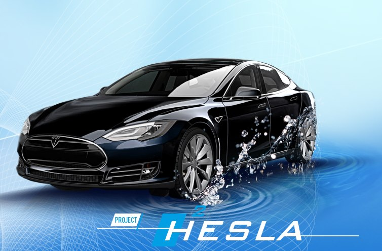 Project Hesla - fuel cell Tesla Model S