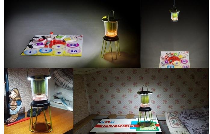 Светодиодный фонарь на свечке-таблетке