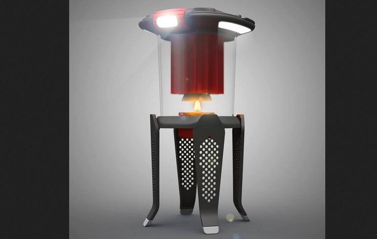 Светодиодный фонарь работает от огня