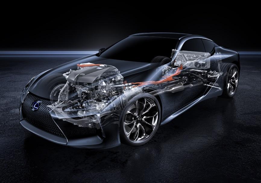 гибридная силовая установка Lexus LC 500h