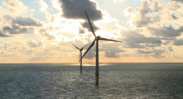Ветряная электростанция в море