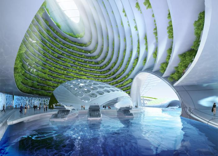 Город будущего в океане