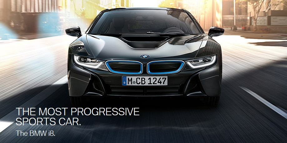 BMW i8 plug-in hybrid sports car