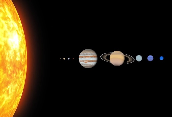 outer planets of the solar system - 701×476