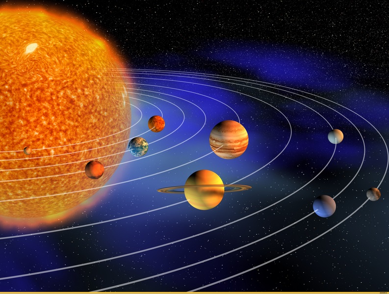 drawing of the solar system in the sun - photo #48