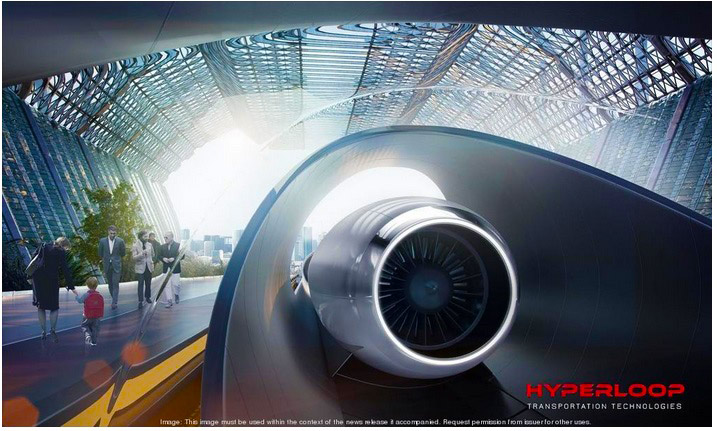 Сверхскоростной вакуумный поезд Hyperloop соединит индийские города