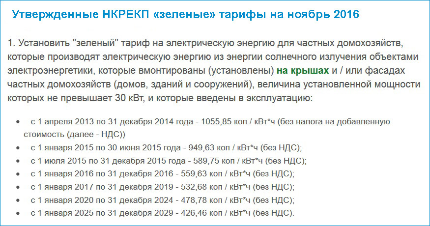 зеленые тарифы в украине для электростанций солнечного типа