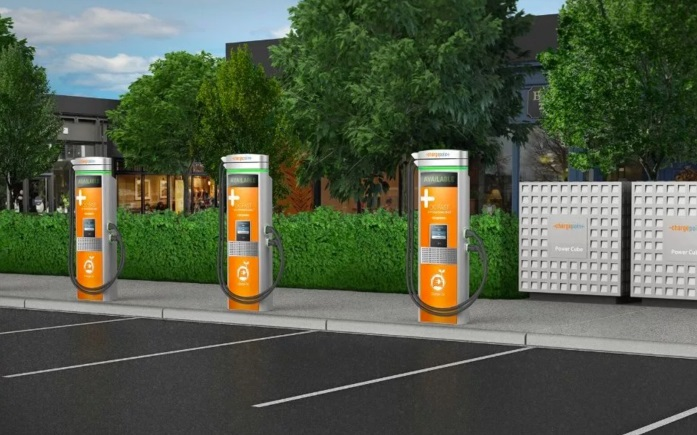 электрозаправка ChargePoint