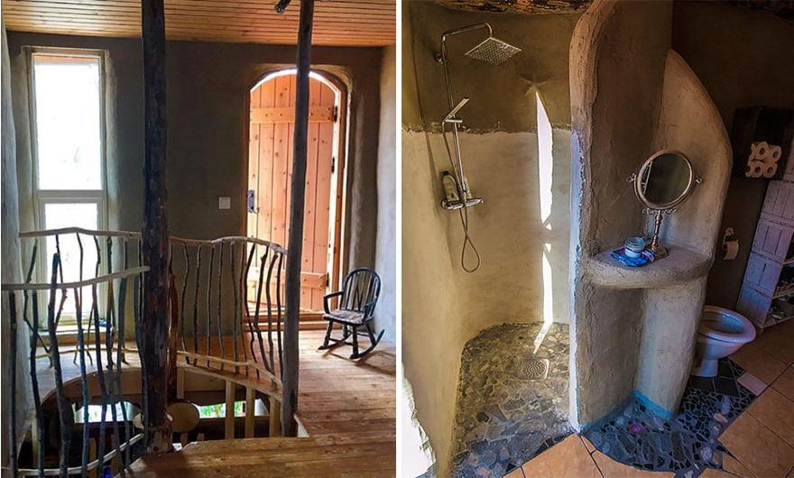 комнаты семейного экодома из природных материалов