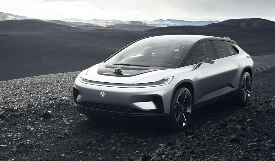 автономный роскошный электрокар faraday future