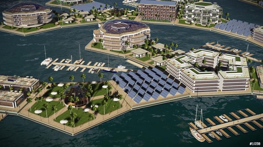 устойчивый город на воде