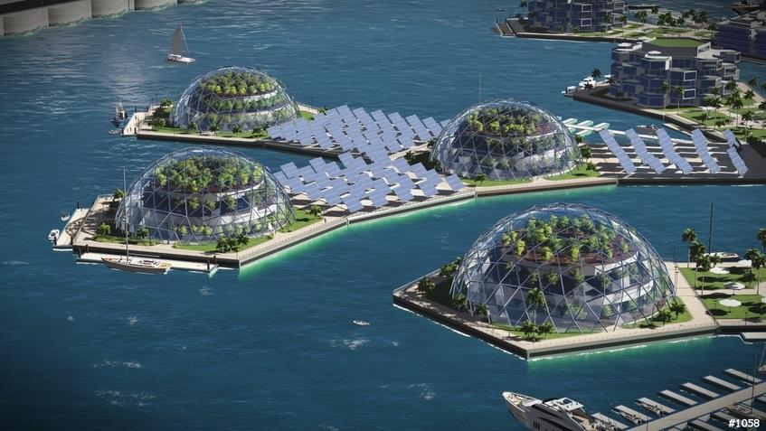 город-остров в откытом море