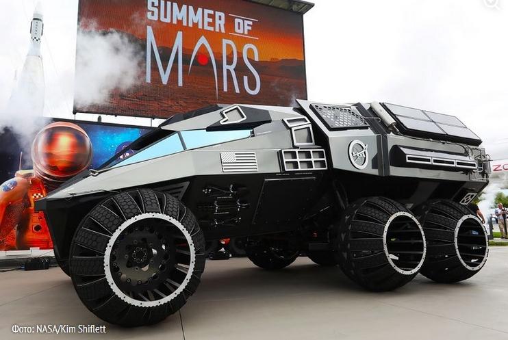 NASA показало внедорожник для путешествий по Марсу (видео)