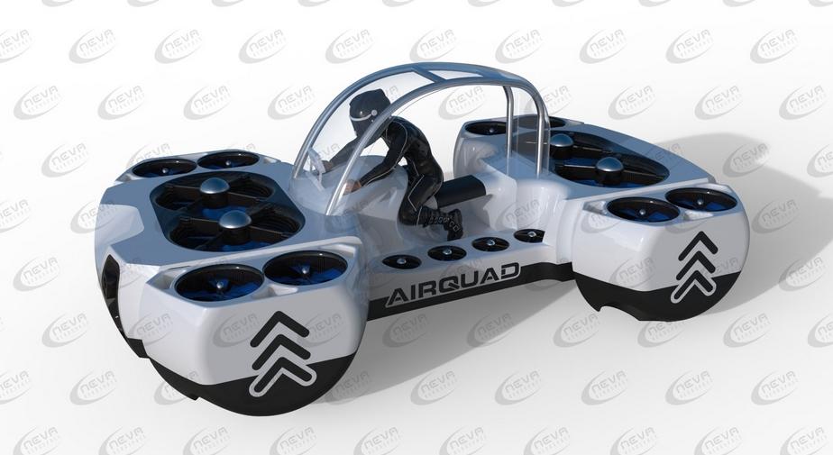 Представлена новая «летающая машина» - пассажирский коптер AirQuadOne