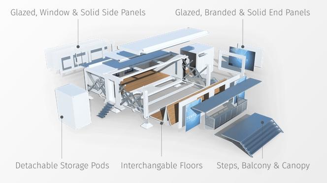 Самораскладывающийся модульный дом от TEN FOLD легко транспортируется и трансформируется 2
