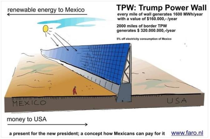 солнечная стена трампа