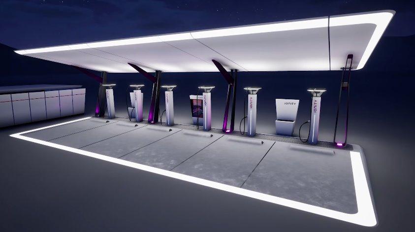Скоростная электромобильная зарядная станция