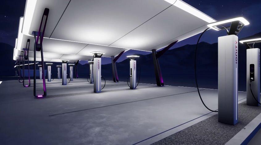 Ionity - станция быстрой зарядки для электромобилей