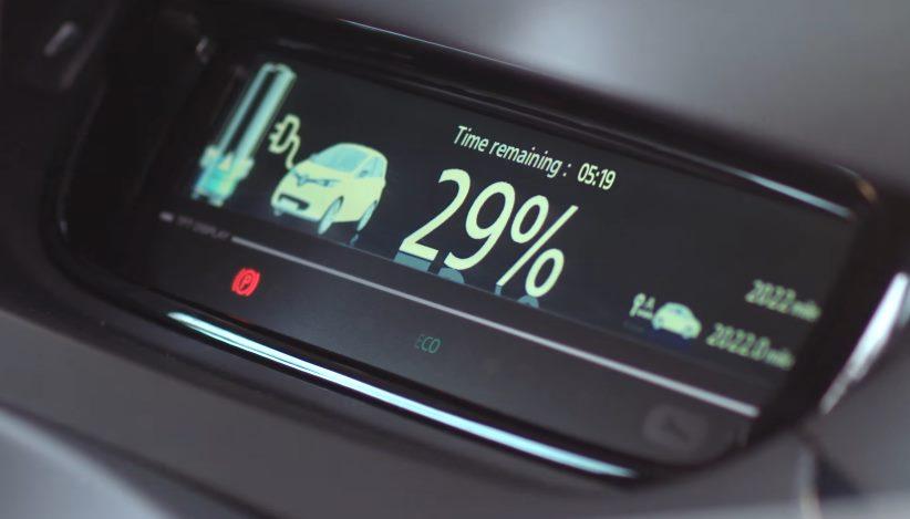 Дисплей зарядки электромобиля