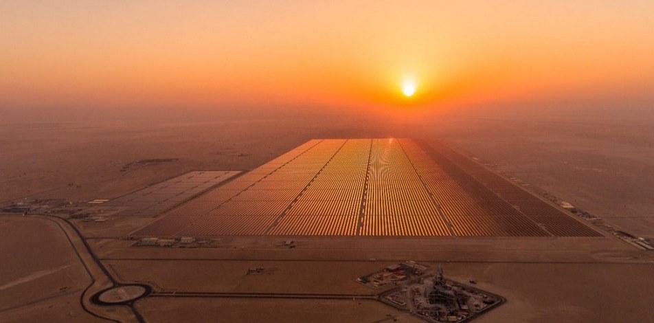 Солнечная электростанция в пустыне Сахара