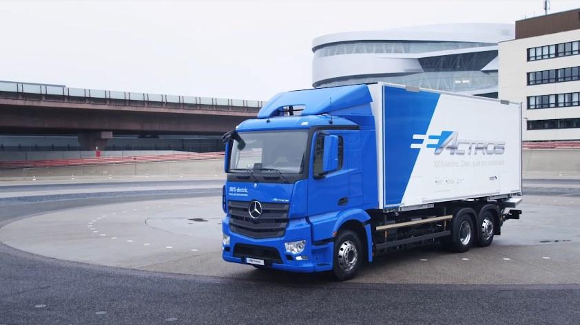 Представлен электрогрузовик Mercedes-Benz eActros