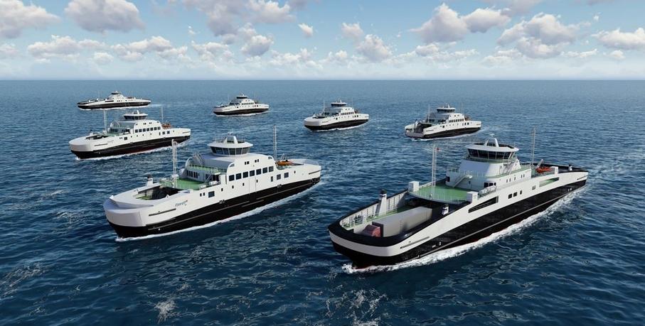 Новый флот электрических паромов с массивными батареями появится в Норвегии