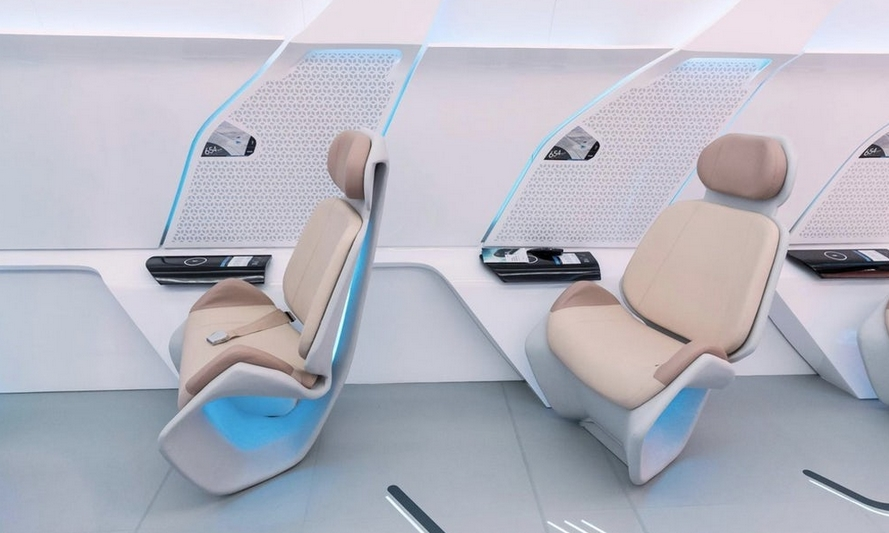 Капсула Hyperloop One для пассажиров