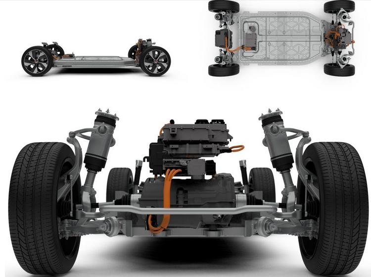 Шасси электромобиля Ягуар