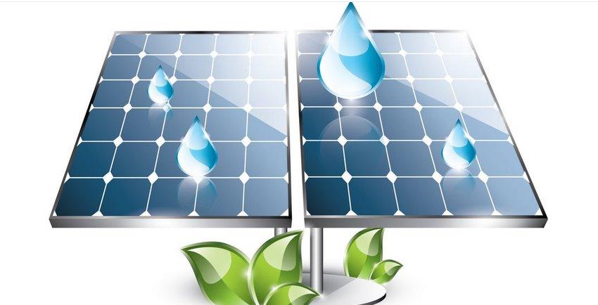 Солнечные панели работают под дождем