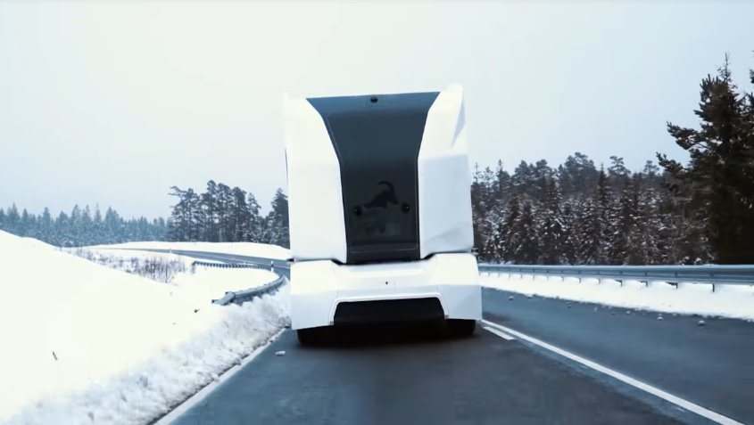 Einride's T-pod autonomous electric car