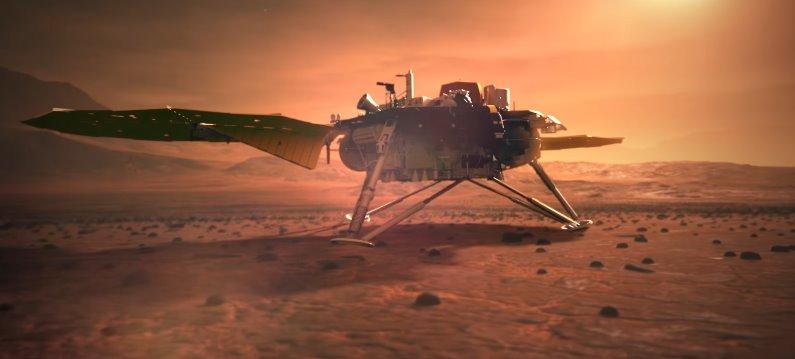 Инсайт работает на Марсе