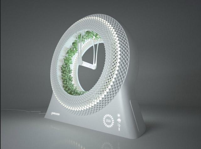 Green Wheel – вращающийся в колесе гидропонный сад, итальянский концепт DesignLibero по технологии NASA