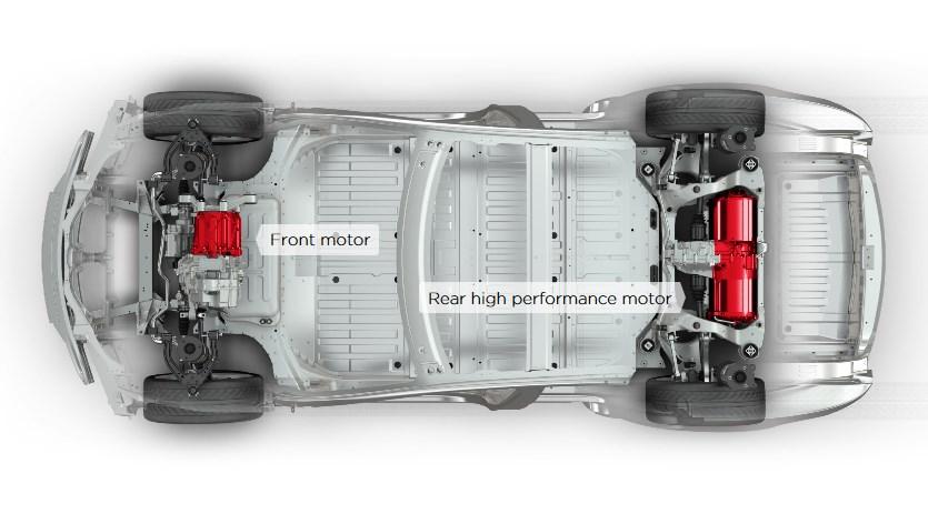 Полноприводная Model S c двумя электродвигателями