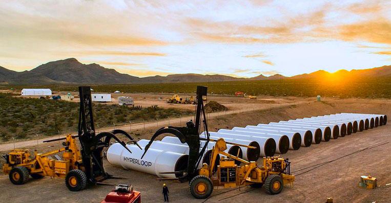 Строительство вакуумного поезда Hyperloop