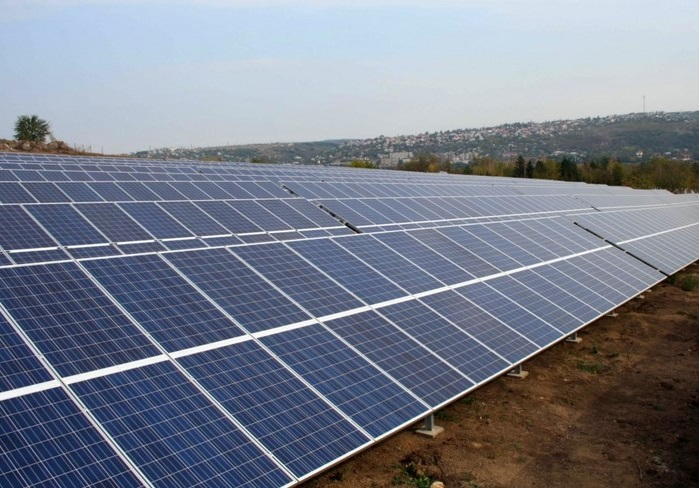 А ви бачили сонячну електростанцію у 20 га на Херсонщині з висоти пташиного польоту?