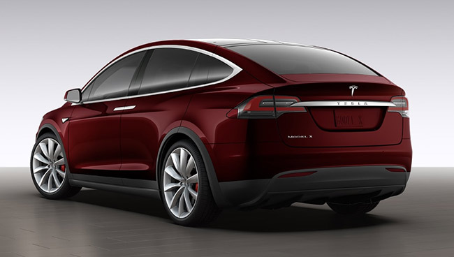 Model X in Sig Red