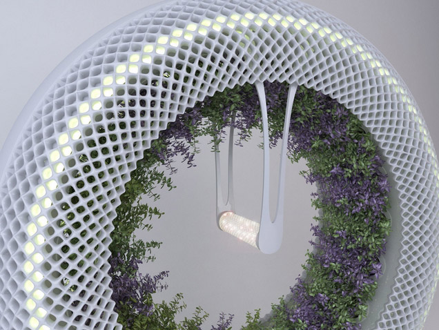 Green Wheel (Зелёное Колесо) – вращающийся гидропонный сад,